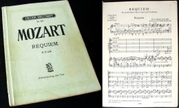 """Partition Du  """"REQUIEM (K626)""""  De MOZART - Chant Chorale"""