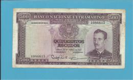 MOZAMBIQUE - 500 ESCUDOS - 22.03.1967 - P 110 - CALDAS XAVIER - Mozambique