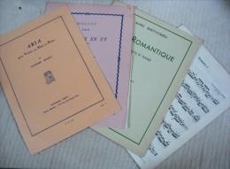 4 Partitions Classiques Pour Flûte (Mozart, Händel, Berthomieu Et Bozza) - Blasinstrumente