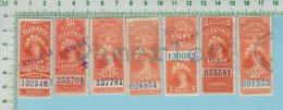 Fiscaux Canada 1900  ( Electric & Light FE9, 2 X FE11, FE12, FE15, FE15, FE17 ) Timbre Taxe Revenues Stamp  2 Scan - Revenues