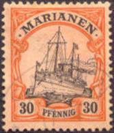 Germany Mariana Islands #22 XF Used 30pf Kaiser´s Yacht From 1901 - Colony: Mariana Islands