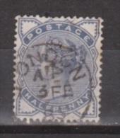 Engeland United Kingdom, Great Britain, Angleterre, Queen Victoria, SG 187, Y&T 76, MICHEL 72 Used Special Cancel - 1840-1901 (Victoria)