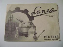 MOLAZZA  LANIC   ROMA  BREVETTO  ANDRIANI   INDUSTRIA MECCANICA PER EDILIZIA    VOLANTINO - Manifesti