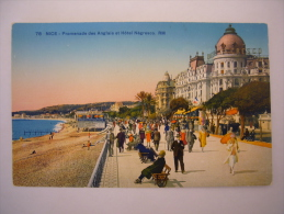 NICE - Promenade Des Anglais Et Hôtel Négresco . RM, Couleurs - Cafés, Hoteles, Restaurantes