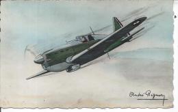 AVION - MORANE SAULNIER 406 - Monoplace De Chasse - Illustrateur André REGNIER - 1919-1938: Entre Guerras