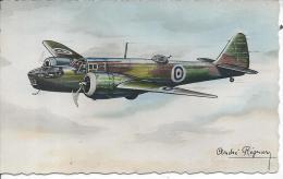 """AVION - BRISTOL """"BLENHEIM"""" - Bombardement Léger - Illustrateur André REGNIER - 1919-1938: Entre Guerras"""