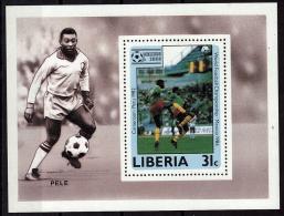 LIBERIA    EPREUVE DE LUXE  N° 1018   * *  Cup 1986   Football  Soccer Fussball Pele - Coupe Du Monde