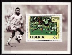 LIBERIA    EPREUVE DE LUXE  N° 1015   * *  Cup 1986   Football  Soccer Fussball Pele - Coupe Du Monde