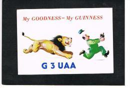 QSL CARD - GRAN BRETAGNA (UNITED KINGDOM) - 1974 GLENFIELD, MY GOODNESS, MY GUINNESS (LION) -WITH LIGHT DEFECTS- RIF. 72 - Radio Amateur