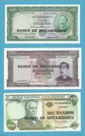 MOZAMBIQUE - 100 + 500 + 1000 ESCUDOS - ND ( 1976 ) - UNC. - Mozambique
