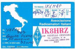 QSL CARD - ITALIA (ITALY) - 1989 TORRE DEL GRECO (NA)  -  RIF. 75 - Radio Amateur