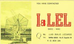 QSL CARD - ITALIA (ITALY) - 1973 NAPOLI  -  RIF. 76 - Radio Amateur
