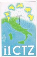 QSL CARD - ITALIA (ITALY) - A.R.I. I1CTZ  (NUOVA)   -  RIF. 85 - Radio Amatoriale