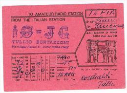 QSL CARD - ITALIA (ITALY) - 1973 ROMA  -  RIF. 92 - Radio Amateur