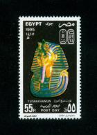 EGYPT / 1995 / POST DAY / THE 18TH DYNASTY OF THE PHARAOHS / GOLD MASK OF TUTANKHAMUN / MNH / VF - Égypte