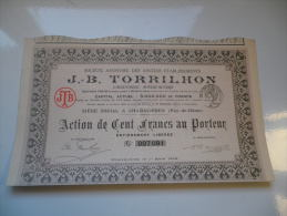 J.B. TORRILHON (1916) CHAMALIERES-PUY DE DOME - Shareholdings