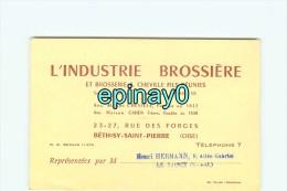 60 - BETHISY SAINT PIERRE - CARTE DE VISITE PUBLICITAIRE - INDUSTRIE BROSSIERE Et BROSSERIE A. CHEVILLE & CAHEN - Visiting Cards