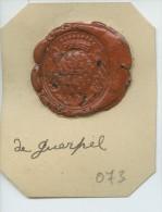 CACHET HISTORIQUE EN CIRE  - Sigillographie - SCEAUX - 073 De Guerpel - Seals