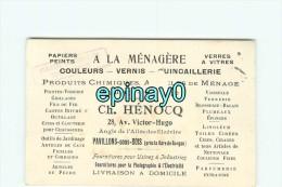 93 - PAVILLON SOUS BOIS - CARTE DE VISITE PUBLICITAIRE - Ch. HENOCQ - 28 Avenue Victor Hugo - - Visiting Cards