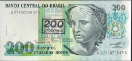 BRESIL - 200 Cruzados Surchargé - UNC - Brazil