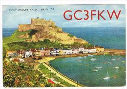 QSL CARD - JERSEY - 1967 ST. LAWRENCE, MONT ORGUEIL CASTLE -  RIF. 95 - Radio Amateur