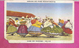 BOLIVIE)   -   * DANSE DES INDIENNES *    -   Editeur ; MISSIONS DES PERES REDEMPTORISTES - Bolivie