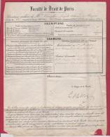 LETTRE //  FACULTE DE DROIT DE PARIS //  POUR SAUMUR  // 26 MARS 1859 - 1849-1876: Classic Period