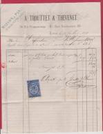 FACTURE DE LYON  //  POUR  VILLEFRANCHE    //  22 JUILLET 1875 - 1849-1876: Classic Period