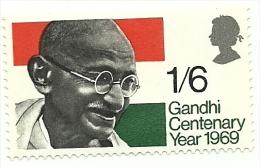 1969 - Gran Bretagna 574 Gandhi, - Mahatma Gandhi