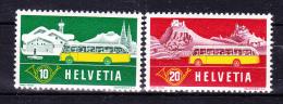 SWITZERLAND   1953 , Alpin Post With Autos , Y&T # 537/8, Cv  1,00  E , ( 2004 ) ** M N H , V V F - Nuovi