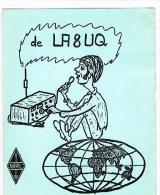 QSL CARD - NORVEGIA (NORWAY) - 1974 STOKKE, MAN ON THE GLOBE   -  RIF. 107 - Radio Amatoriale