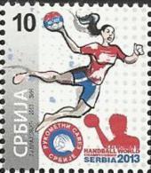SRB 2013-ZZ EHF EURO WOMAN HANDBALL , SERBIA, 1 X 1v, MNH - Hand-Ball