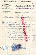 87 - LIMOGES - FACTURE MENUISERIE EBENISTERIE- ANDRE SAUTE -7 RUE SUT DE BOEUF- 1925 - France