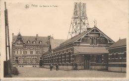 Feluy - La Gare Et La Poste - Répartiteur De Lignes Téléphoniques - 1950 ( Voir  Verso ) - Seneffe
