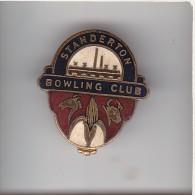 SOUTH AFRICA STANDERTON BOWLING CLUB Lapel Badge : Cast Metal & Enamel: Maker - METAL ART PRETORIA - Bowls - Pétanque