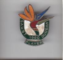 SOUTH AFRICA WOMENS BOWLS TOURNAMENT 1960 PLAYER Lapel Badge : Cast Metal & Enamel: Maker - METAL ART PRETORIA - Bowls - Pétanque