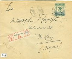 R - AANGETEKENDE * NED. INDIE * BRIEFOMSLAG UIT 1929 * Van WELTEVREDEN Naar DEN HAAG (8178) - Indes Néerlandaises