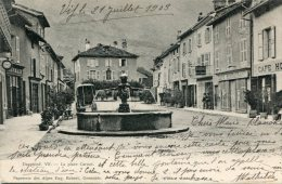 CPA 38 VIF LA PLACE CARNOT 1903 - Vif