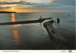BT18416 Sunset Over Whitby Harbour     2 Scans - Whitby