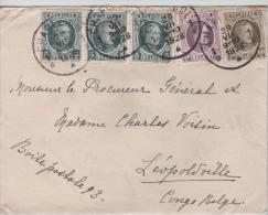 00651a Charleroi 1928 + Contenu Menu TP Houyoux V. Congo Belge Léo. C. Arrivée - 1922-1927 Houyoux