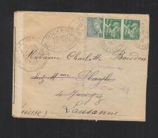 Lettre 1940 Pour La Suisse Censure - Frankreich