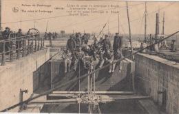 Zeebrugge    Ruines De Zeebrugge   Lock Of The Canal Zeebrugge To Bruges.  English Divers      Scan 5370 - Zeebrugge