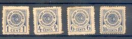 ANTILLES DANOISES - ANTILLAS HOLANDESAS AÑO 1902 TIMBRES TAXE YVERT NRS. 1-4 - Antillen