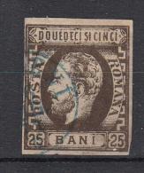 ROEMENIË - Michel - 1871 - Nr 28 - Gest/Obl/Us - Cote 55.00€ - 1858-1880 Moldavia & Principality