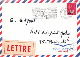 St Denis (Réunion) Timbre Surchargé CFA - Covers & Documents