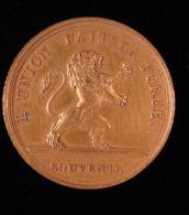 """M01566 21 Juillet 1831 : Serment De Léopold I Roi Des Belges Et Un Lion Au Revers """"l'union Fait La Force"""" (4 G.) - Belgium"""