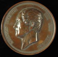M01581 25e Anniversaire Inauguration Du Roi Par Le Hainaut 1856 Et Léopold I Au Revers Par WIENER (192 G.) - Belgium