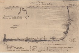 Zeebrugge   Reproduction Du Plan De L'Attaque De Zeebrugge         Scan 5416 - Zeebrugge