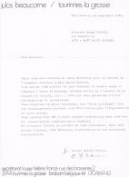 Mont-Saint-Guibert Contrat De Julos Beaucarne Pour Le Spectacle Du 9 Novembre 1973 - Belgique