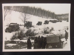 WW2 Original Photo - GERMAN ARMY FRONTE RUSSO-FINLANDESE COLONNA Formato 10,5 X 7 Cm - Weltkrieg 1939-45